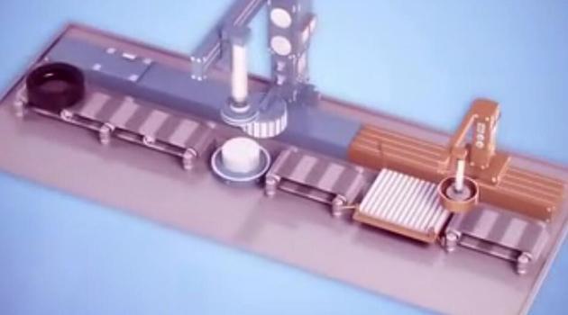 3D动画演示轮胎的自动化生产过程