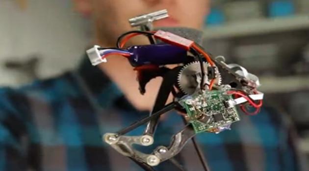 拥有超强弹跳力的微型机器人