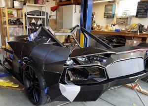 成本14万元!硬核老爸3D打造兰博基尼:成功发动