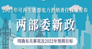 重磅!国家能源局发布2021年可再生能源电力消纳责任权重
