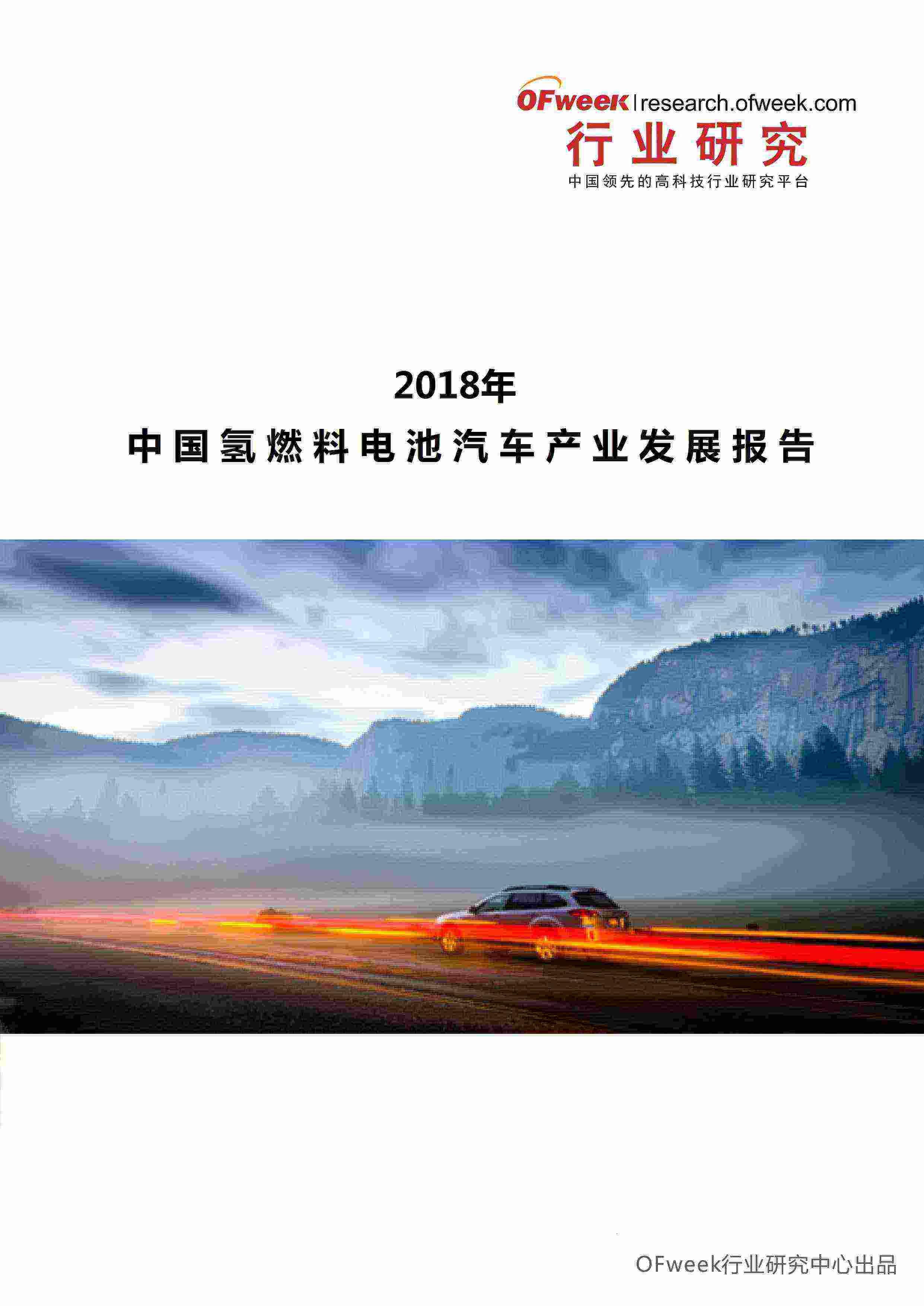 2018年中国氢燃料电池汽车市场分析报告