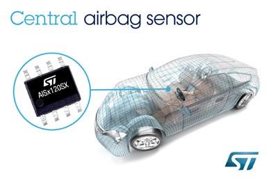 意法半导体推最新中央碰撞传感器升级汽车安全气囊