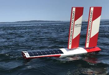 可再生动力无人船正在保护海洋环境