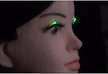 日本研发LED眼睫毛:可跟随音乐旋律闪烁