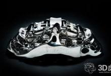 布加迪开发全球最大的3D打印钛制动钳