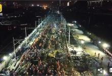 中国工人9小时改造火车站