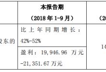 赢合科技:前三季度净利预增52%