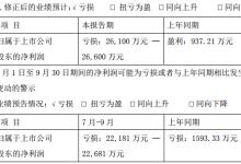 科融环境前三季度预亏损26100-26600万
