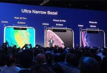 """华为Mate 20发布会""""泄露""""苹果iPhone XR屏幕边框厚度:5.1mm"""
