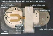 可穿戴传感器用汗液检测血液中的酒精含量