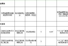 """甘肃""""十二五""""以来风电发电项目信息"""