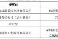 立讯精密: 完成全资子公司珠海双赢51%股权转让