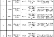 拟入选江西土壤污染防治专家库专家名单