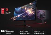 LG发布新款曲面带鱼屏显示器:120Hz刷新率