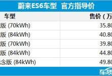 蔚来ES6搭载宁德时代新型电池 续航510km