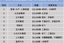 新能源车企TOP10配套电池企业盘点
