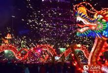 重庆合川灯会:宫灯采用新型激光灯束