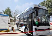 """西南首个加氢示范站启用 """"四川造""""氢燃料电池客车开跑"""