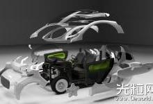 进入中国的第一辆3D打印电动车XEV