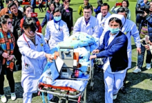 空中接力急救6岁病重男童
