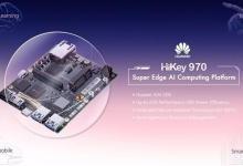 """华为发布人工智能开发平台""""HiKey 970"""""""