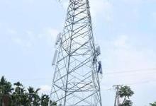 海南首座高压电力通信塔在乐东建成