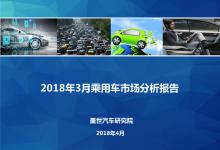 2018年3月乘用车市场销量分析