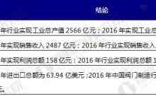 中国阀门制造现状分析 企业集于低端市场