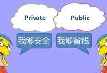 对比私有云和公有云的不同