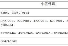 锐科激光网上申购中签号码共57600个