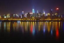 重庆南滨路路灯更换工程顺利完工