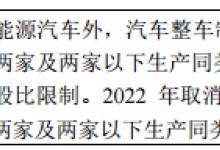 【聚焦】新能源汽车外资股比限制取消