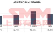 6月镍下游行业PMI综合指数终值分析