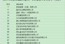 """17家光伏企业入围河北""""双百强""""名单"""