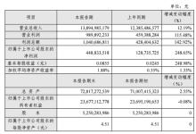 粤电力A上半年净利润增长近2.5倍