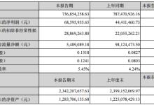 瑞丰光电上半年营收7.37亿 净利7995万元