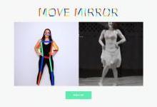 Google推出Move Mirror趣味AI网站,可在浏览器中根据人体动作即时搜图