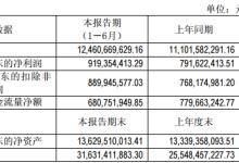通威股份半年度净利9.19亿元