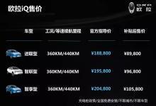 欧拉iQ成都车展上市 补贴后8.98万-10.58万
