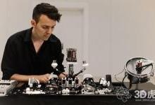 Geist 3D打印声波机器人,播放电子音乐