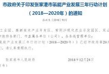 2020年产值突破100亿元 张家港发布氢能产业发展三年行动计划