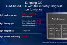 华为今日推出7纳米鲲鹏920芯片