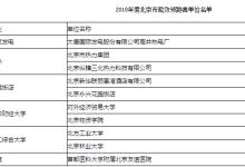 2018年度北京市能效领跑者单位名单