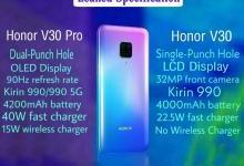 荣耀V30系列:90Hz刷新率+OLED显示屏