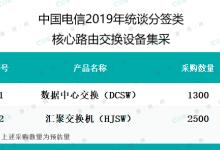 中国电信启动统谈分签类核心路由交换设备集采