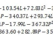 工艺与力学性能的统计方法研究