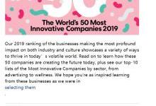全球最具创新力公司公布:美团第1 苹果第17