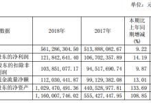 永新光学2018年净利1.22亿元