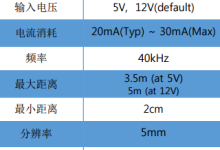 超声波测距传感器模块HG-C40U工作程序