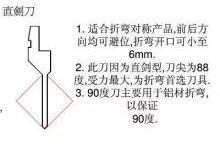 折弯刀具得用法及折弯遇到的问题解决方法